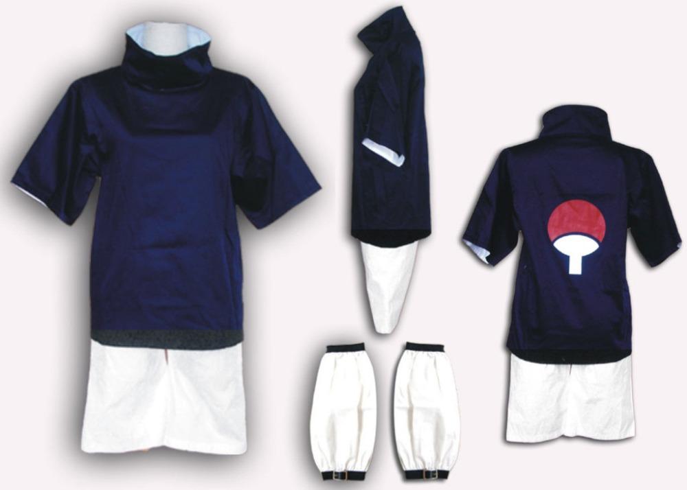 Naruto cosplay costume Sasuke free size cosplay costume top pants sasuke cosplay uniform(China (Mainland))