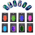 Hot New 1pcs Holographic Nail Art Broken Glass Foils Finger Stencil Decal Stickers DIY Nail Decorations