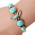 High Quality Fashion Summer style Trendy Gold Silver plated Bangle Turquoise Bangle Bracelet Cuff can be