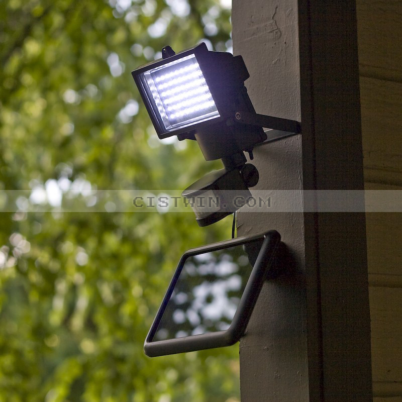 60-LED Solar Outdoor Light High Brightness Motion Sensor Panel High Quality Security Flood Lamp Garden Lawn Big Solar LED Light(China (Mainland))