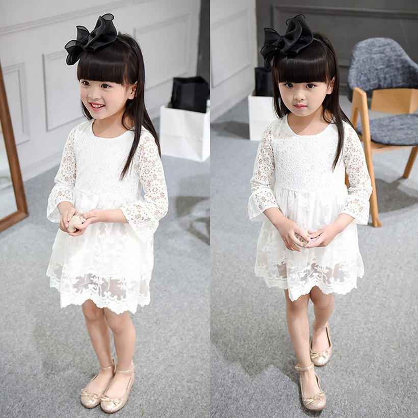 girls dresses toddler girl dress for party and wedding princess kids clothes lace fashion 2~9year birthday 2016 autumn spring(China (Mainland))
