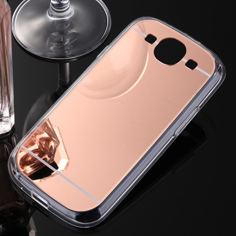 Phone Case For Samsung Galaxy S3 Electroplating Mirror TPU Mobile Phone Cover Case For Galaxy i9300 i9308(China (Mainland))
