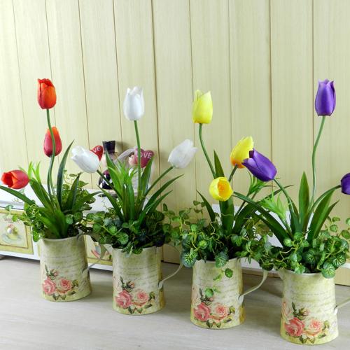 Fashion Derlook Bouquet Floor Artificial Flower Set Pu
