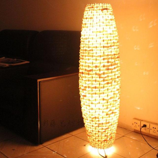 Modern creative lamps lighting rustic bamboo floor lamps for living room dining room bedroom study hotel club(China (Mainland))