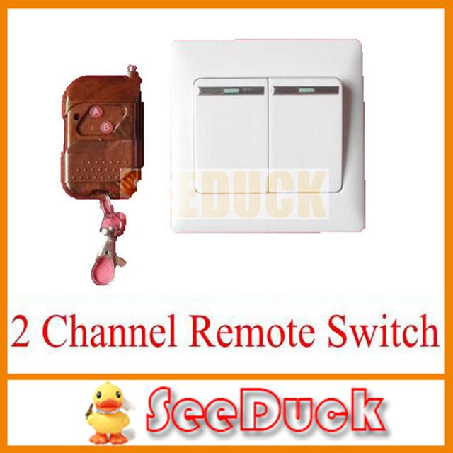 Free Shipping New 220V AC 2 Channel RF Wireless Remote Radio Control Switch 86 Type EG180
