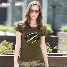 Buy Summer Fashion Ladies Tshirts Tops Womens Army Green O Neck Cotton Brand T-Shirt Cotton Plus Size Women Clothing Gs-8557A for $11.73 in AliExpress store