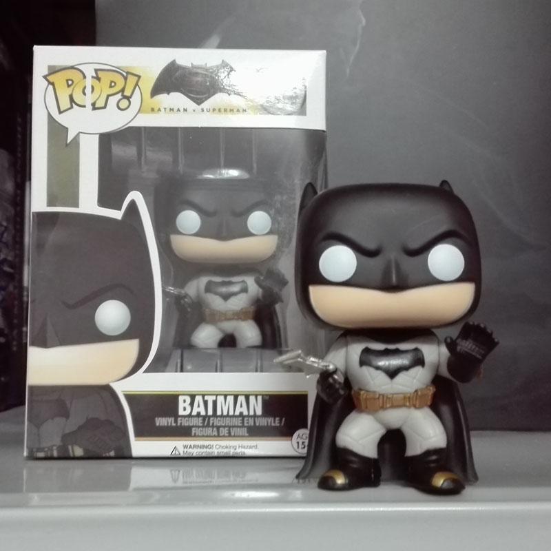 Funko POP Batman 84# Batman VS Superman Dawn of Justice Super Hero 10cm PVC Model Toy Collection Doll car Decoration(China (Mainland))