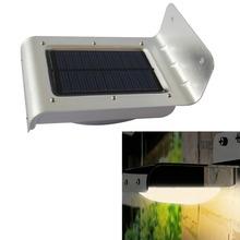 16 LED Solar Power Sensor Lamp Sound/motion Detect Garden Security Light Outdoor Waterproof Warm White Garden Solar Light IP65(China (Mainland))