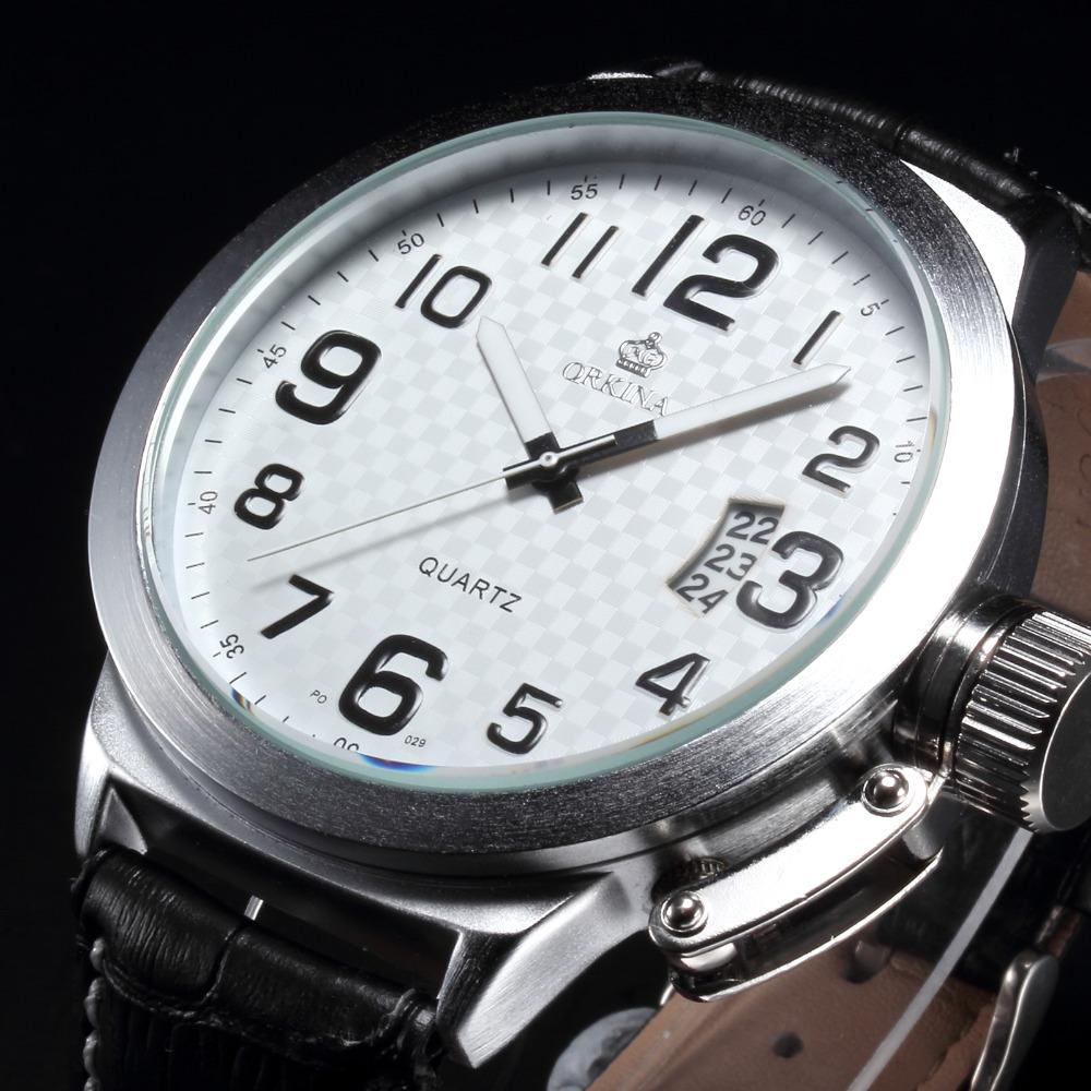 relojes mujer 2016 New Clock Men Marine Oversized Tough Silver Dial Date Display Mens Sport Quartz WatchCool  Heren Horloges<br><br>Aliexpress
