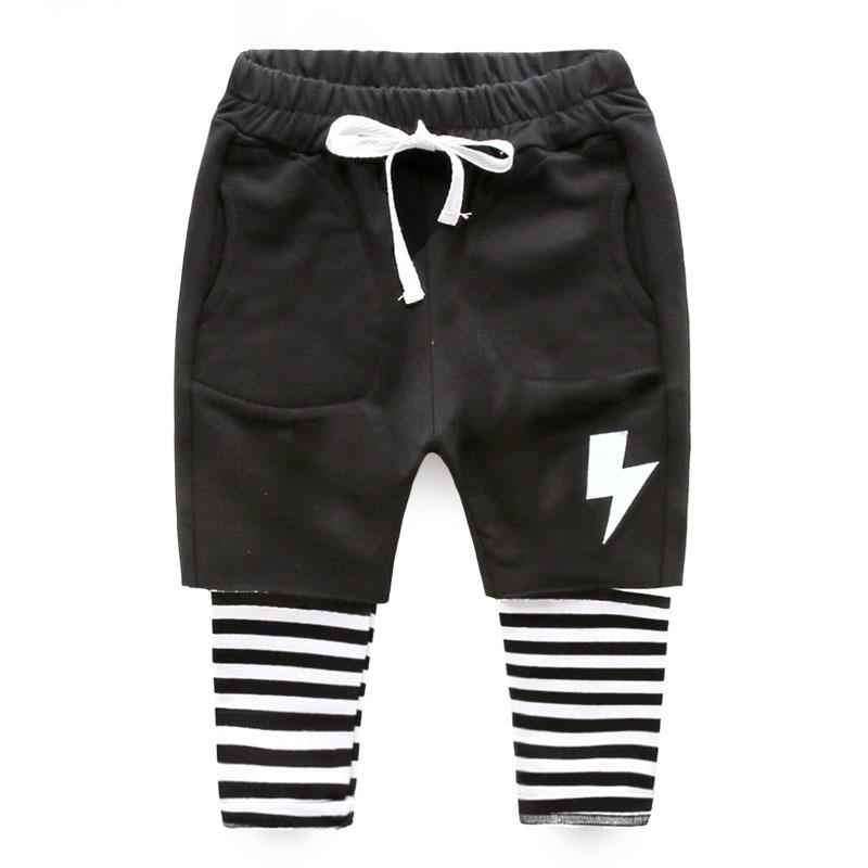 Здесь можно купить  Hu Sunshine wholesale new 2016 spring childrens kids lightning black striped pants  Детские товары