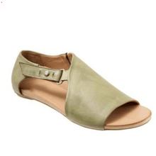 Новинка 2019, женские сандалии-гладиаторы на плоской подошве с пряжкой, летняя женская модная обувь в римском стиле с открытым носком, большие...(China)