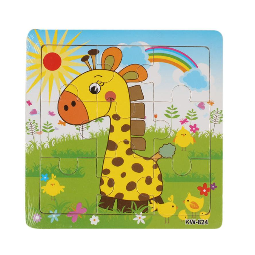 Wooden Giraffe Jigsaw Toys For Kids Education And Learning Puzzles Toys<br><br>Aliexpress