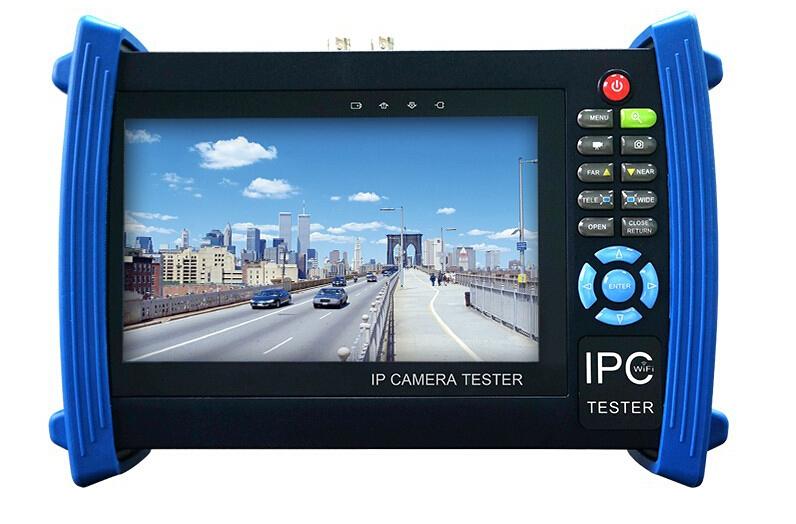 "7"" IP CCTV tester IP camera analog camera testing digital multimeter +TDR+Optical fiber+Visual fault locator(China (Mainland))"
