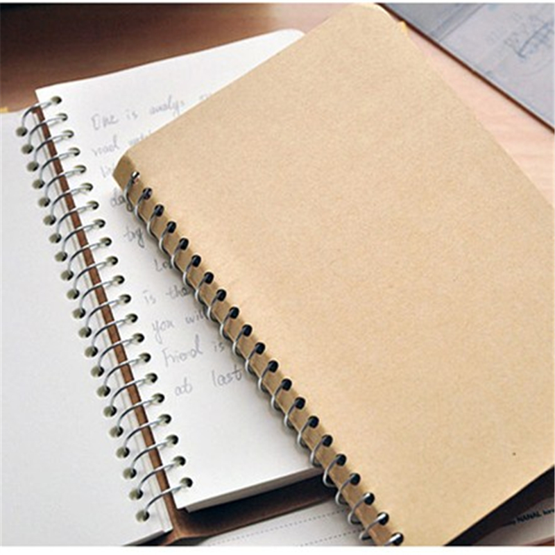 Vintage notebook Weekly plan Coil spiral Notebook Diary book agenda papelaria caderno escolar stationery office School supplies(China (Mainland))