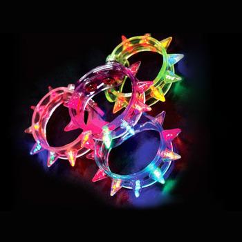New Arrival Multi colors night glow stick flashing bracelet light sticks festival items DIY led party kids toy