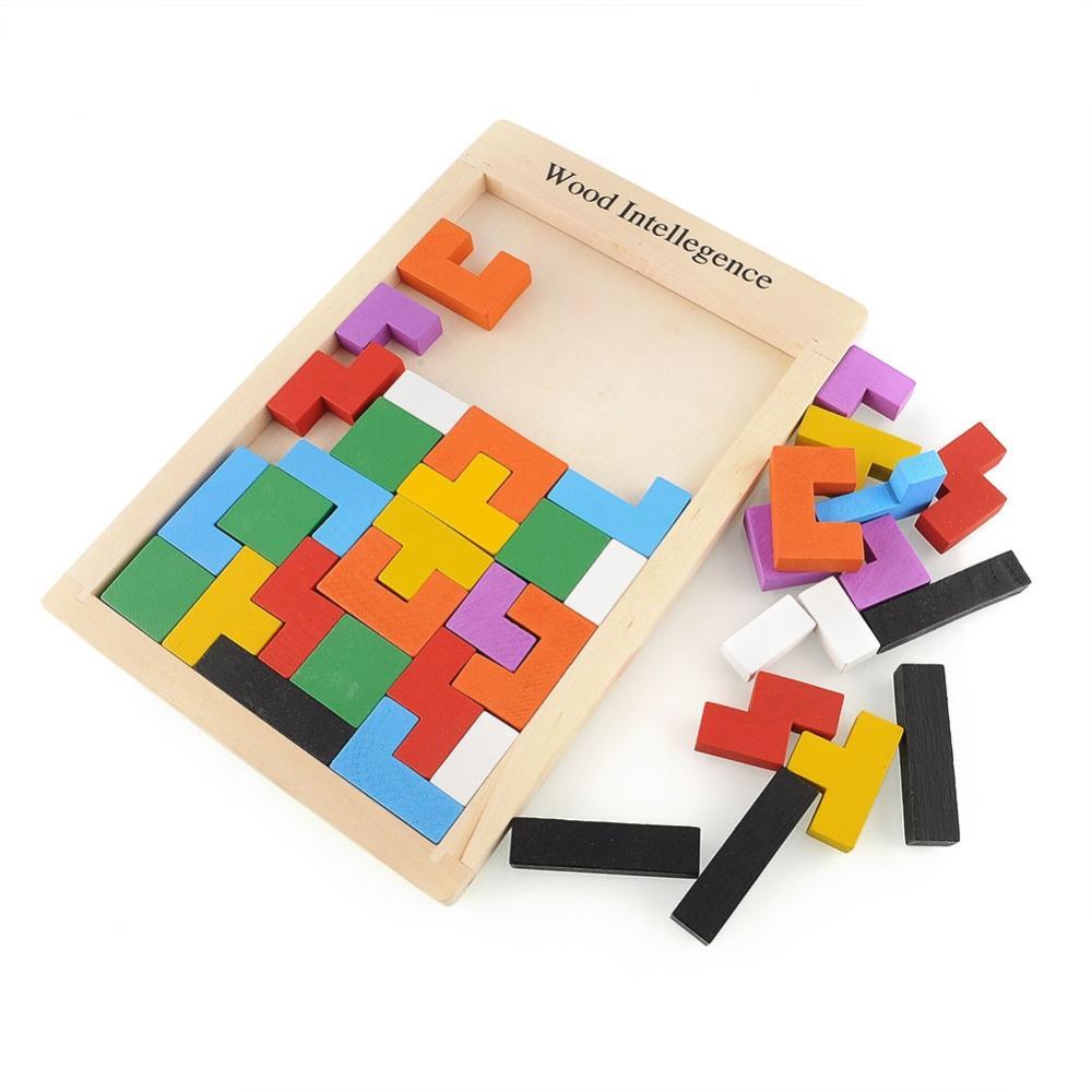 Гаджет  Wooden Tangram Brain Teaser Puzzle Tetris Game Educational Baby Child Kid Toy Free Shipping  None Игрушки и Хобби