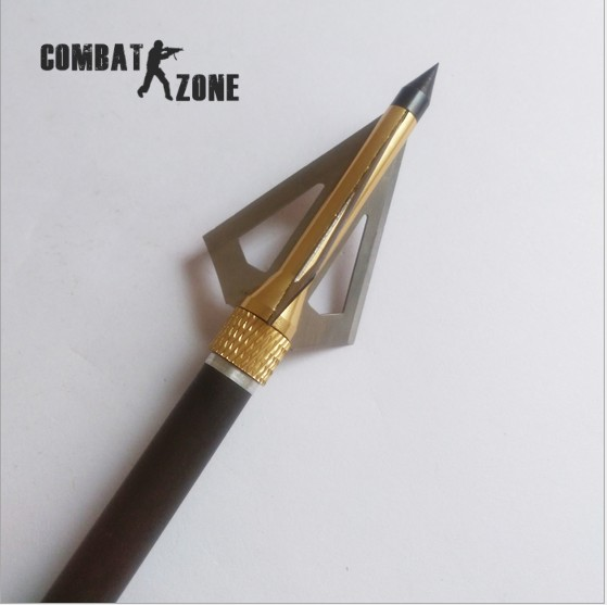 High Quality 12pcs lot 100 GR Hunting Crossbow Arrow Broadhead Also Used as Archery Bow and
