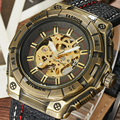 2017 Fashion Luxury Brand Automatic Mechanical Watches Male Fashion Skeleton Dial Luminous Leather Mens Mechanical Wristwatches