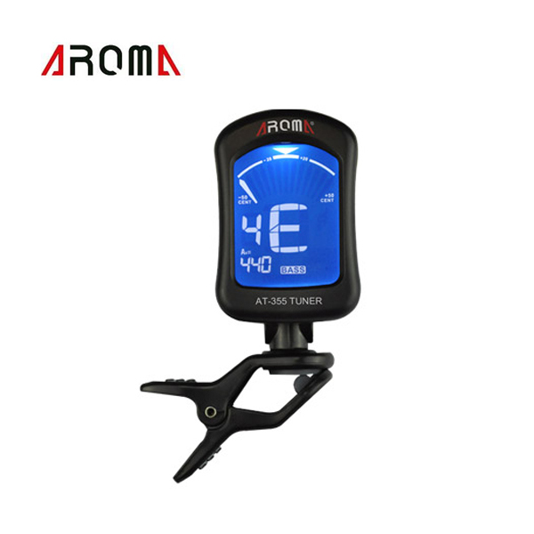 Portable Clip-on Guitar Tuner Electric Tuner Universal for Chromatic Bass Violin Viola Ukulele Aroma AT-355 New Arrival(China (Mainland))