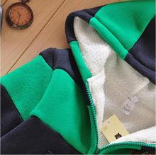 2015 Boys Girls Children Hoodies Winter Wool Sherpa Baby Sports Suit New Jacket Sweater Coat Pants