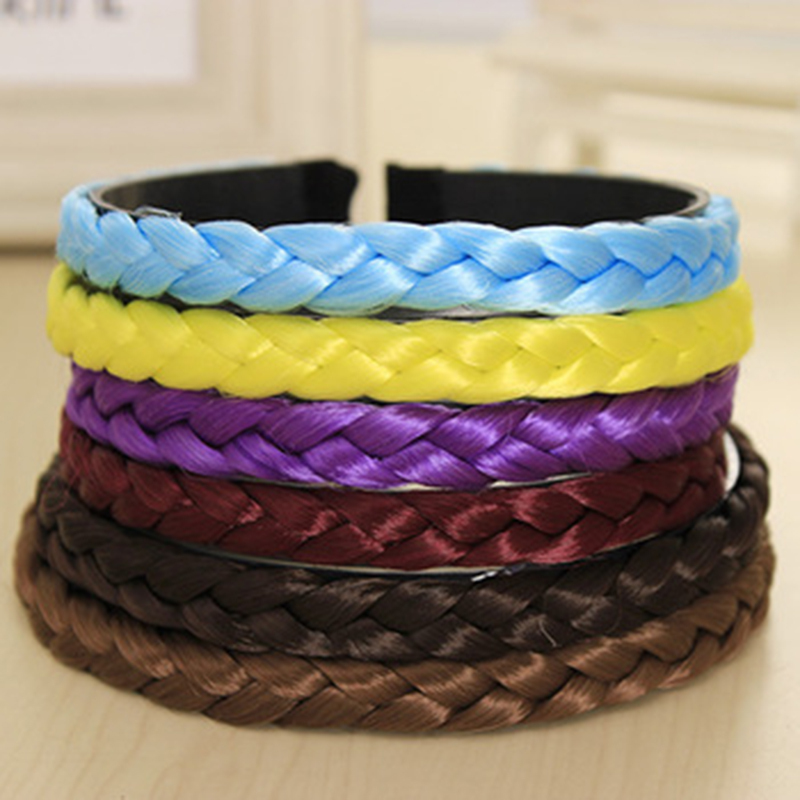New Fashion Pure Color Weave Hair Collection Wig Loom Band Hair Band for Women Hair AccessoriesОдежда и ак�е��уары<br><br><br>Aliexpress