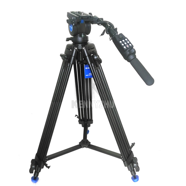 New Pro Video Camera Camcorder Fluid Drag Tripod KH25N Benro KH-25 + RM25X Remote Control For Canon XL1 XL1S XM1 Sony FX1E