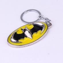 New Arrival Movie Jewelry Batman Keychain Superhero Theme Metal Bat man Key chain Alloy Key Ring(China (Mainland))