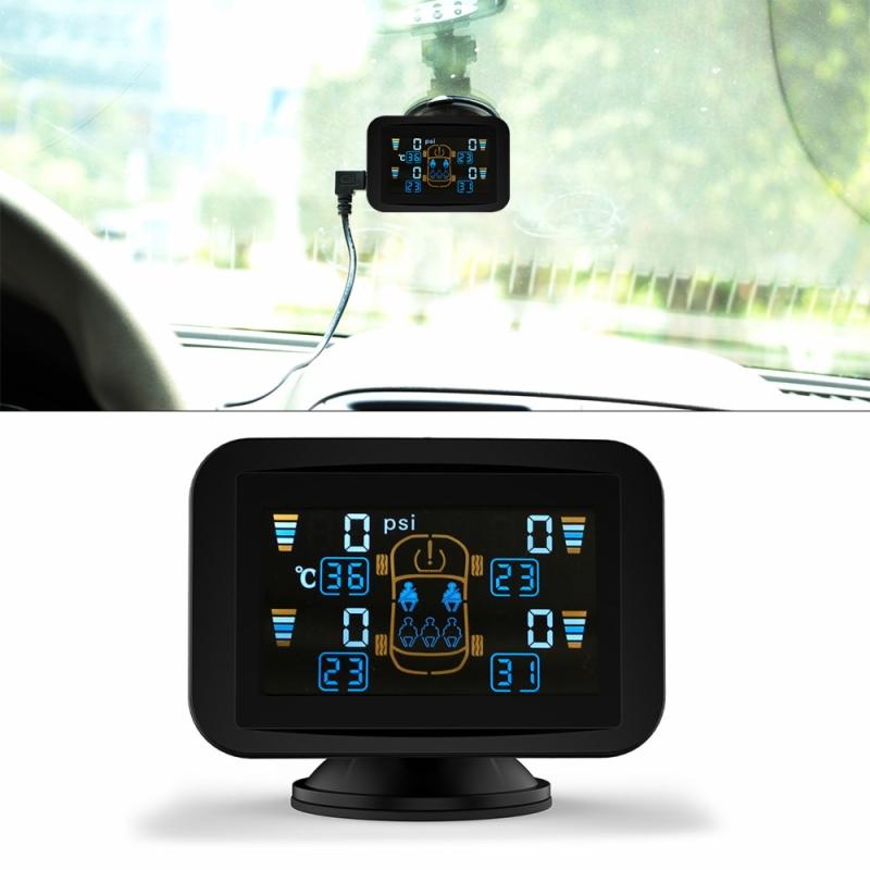 CARCHET TPMS Tyre Pressure Monitoring Intelligent System+4 External Wireless Sensors LCD Sucker Display Car Auto Tire Monitor<br><br>Aliexpress