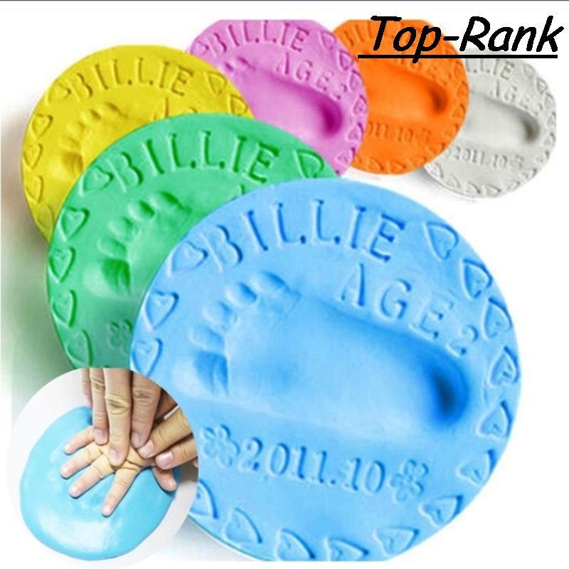 2 шт лот Baby Care Воздушной Сушки Мягкая Глина Детские Handprint След Imprimt Малыш Литья DIY