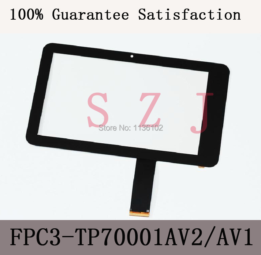 "(Ref: FPC3-TP70001AV2/MH7001T-00FPC)7"" inch LCD touch panel LCD touch digitizer glass for Freelander PD10 PD20 tablet PC(China (Mainland))"