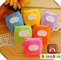 New cute Cartoon piggy contact lenses box & case /  lens Companion box / Wholesale