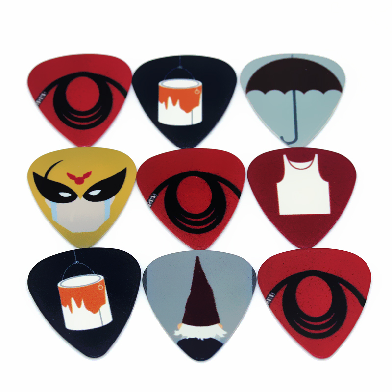 10pcs/Lot 0.71mm thickness guitar strap guitar parts Personality simple umbrella vest guitar picks guitar picks(China (Mainland))
