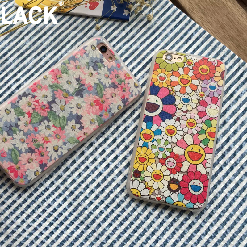 Hot sale Newest Ultra thin frosted Case for iphone 5 5s SE 6 6s 6plus Flowers Daisy Plants Sunflower Protective Case Cover(China (Mainland))