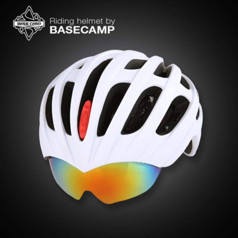 EPS Basecamp Cycling Helmet with Glasses 32 Vents MTB Road Bike Helmet Adjustable Bicycle Helmet with Goggles Design 3 Lens 010