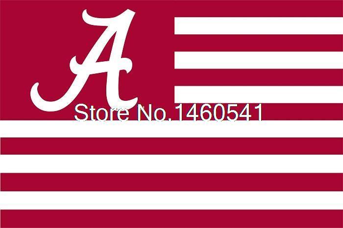 Alabama Crimson Tide With Modified US Flag 3ft x 5ft Polyester NCAA Alabama Crimson Tide Banner Flying Size No.4 144* 96cm(China (Mainland))