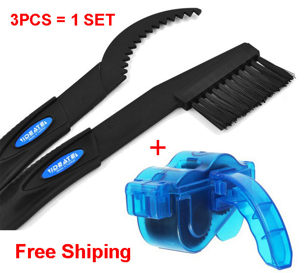 High Quality Bicycle Chain Cleaner Cycling Accessory Bike Chian Machine Brushes Scrubber Wash Tool Kits Free Shipping(China (Mainland))