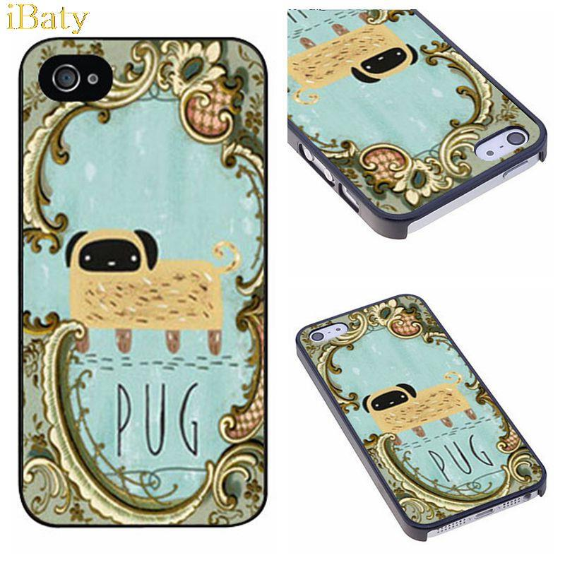 Pug In Mirror Classical Luxury Charm Customized Hard Plastic Phone Case Cover for Apple iPhone 4 4s 5 5s 5c 6 6s plus(China (Mainland))