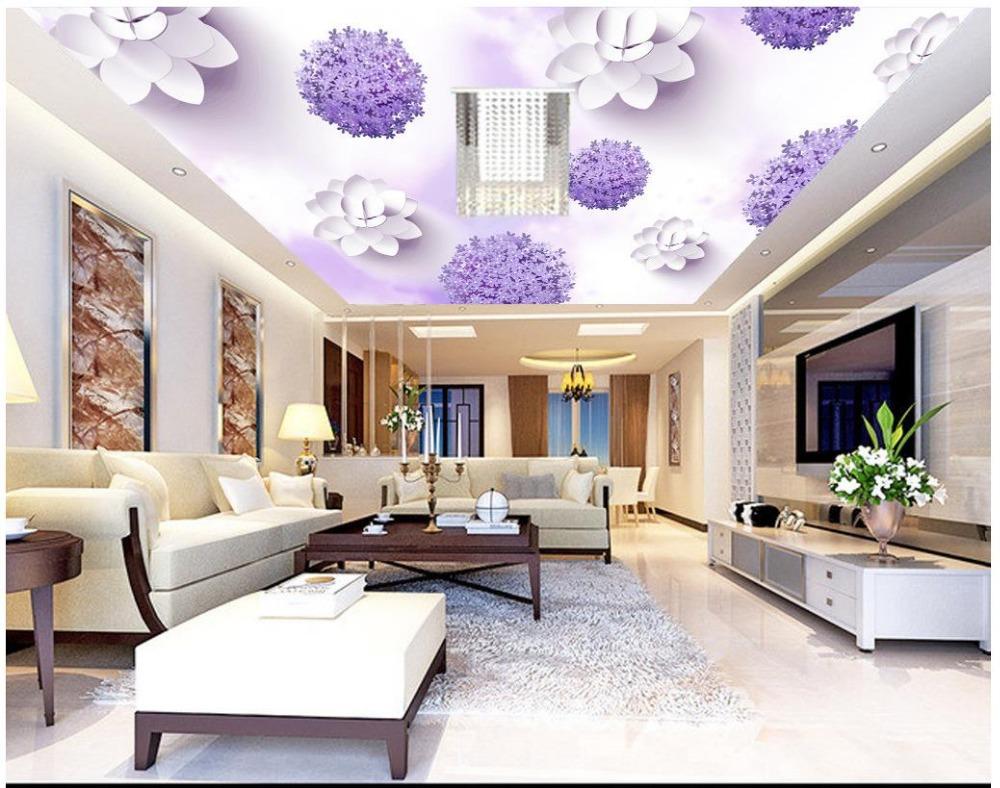 Benutzerdefinierte 3d Fototapete Decke Wandbilder Wallpaper Lwenzahn Dach Tapete Wohnzimmer