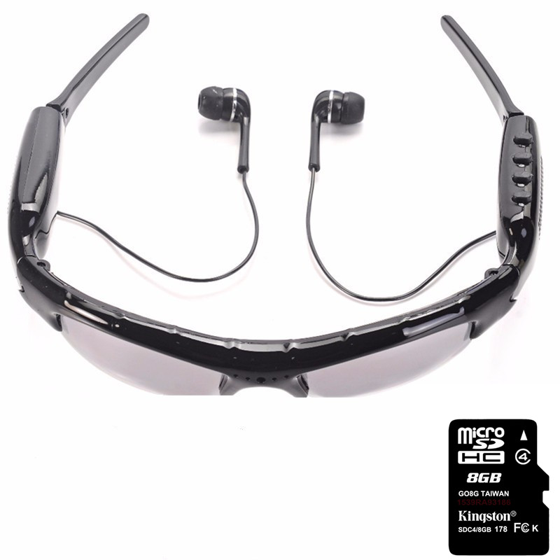 FineFun Smart Sunglasses DVR KL-339D Mini DV Audio Video Recorder Camcorders Video Camara MP3 Player earphones Support TF Card(China (Mainland))