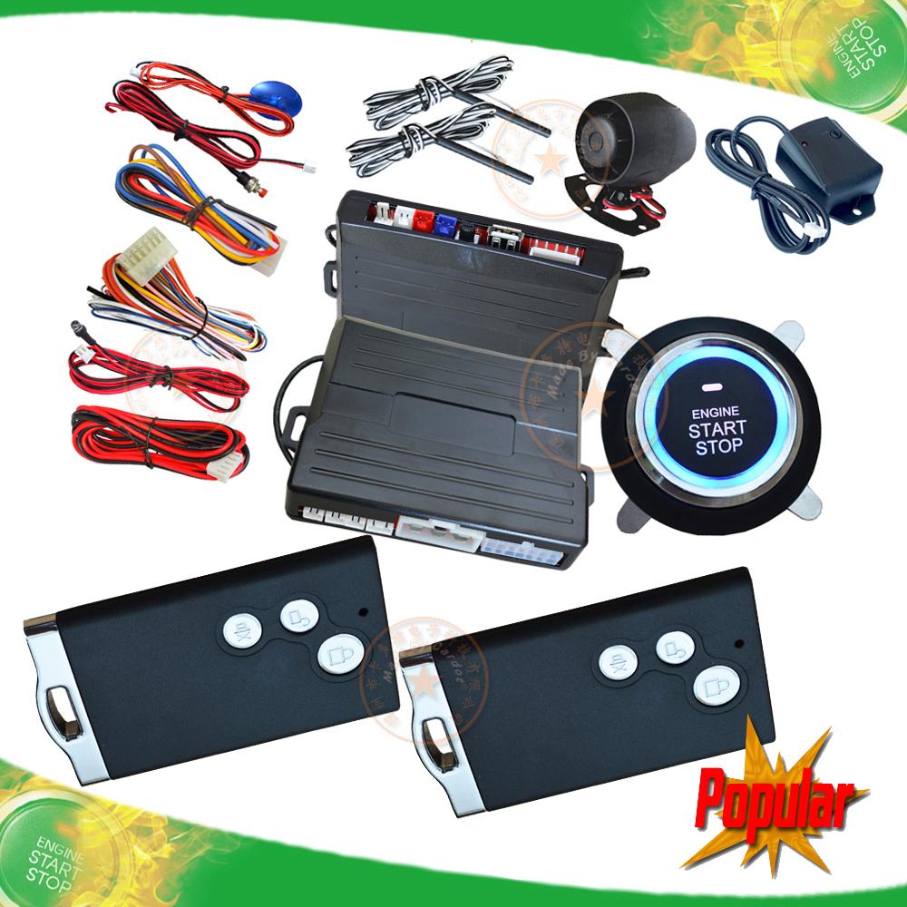 hot selling smart car alarm system passive car alarm RFID chip key lock or unlock automatically remote start,push start button(China (Mainland))