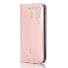 Multifunction Wallet Leather Case For iphone 7 7 plus Butterfly Rose Embossed Flip Cover Card Slot Handbag Cases For iphone 6 6S(China (Mainland))