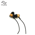TTLIFE Original Wooden in Ear Earphones Headset Super Bass Fone De Ouvido 3 5mm Jack for