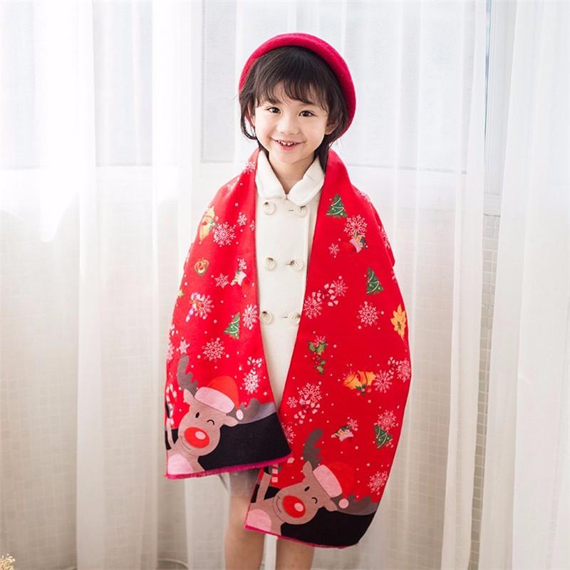 2017 Children Cashmere Christmas Scarf and shawl kids warmer winter wrap boy ring girls pashmina echarpe foulard femme