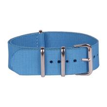 Nueva luz azul acero inoxidable del corchete 22 MM Nylon lienzo ver correas nuevas correas de reloj de la otan banda wach
