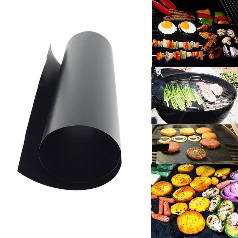 2pcs/Set PTFE Non-stick BBQ Grill Mat Barbecue Baking Liners Reusable Teflon Cooking Sheets 40 * 30cm Cooking Tool MD790(China (Mainland))