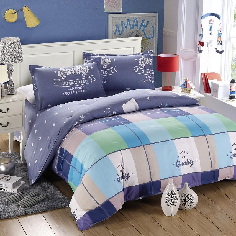 2015 4pcs King Size Bedding Sets Douillette100% Cotton Anime Colorful Duvet Cover Bedding Sets Bedspreads Set Bed Linen(China (Mainland))
