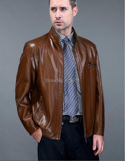 2016 Лето и осень овечья кожа мужской одежды стоять воротник тонкий короткие кожаные куртки пальто дизайн