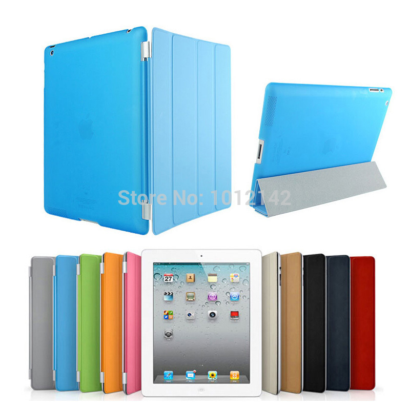 Christmas Gifts Fashion Design Magnetic Smart Cover Matte hard back Case for Apple Ipad 5 Air 1 Ipad5 Ipad Air 1(China (Mainland))