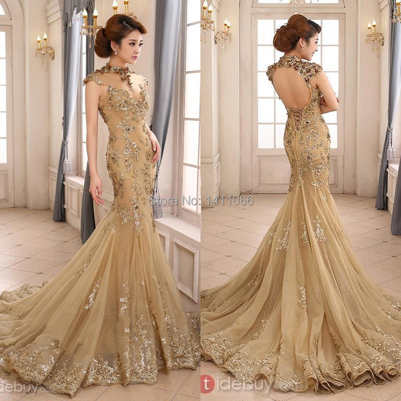 online get cheap gold wedding dresses aliexpresscom
