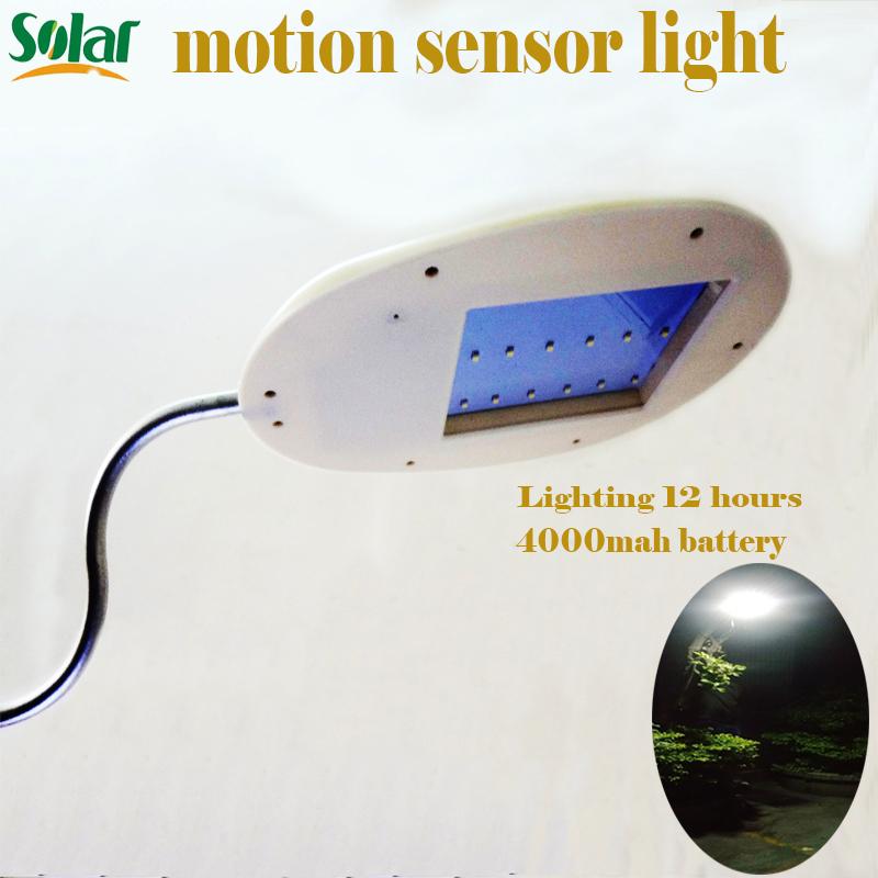 led solar motion sensor light outdoor Waterproof Street Light Garden Pathway Wall Lamp LED Solar panel light garden decoration(China (Mainland))